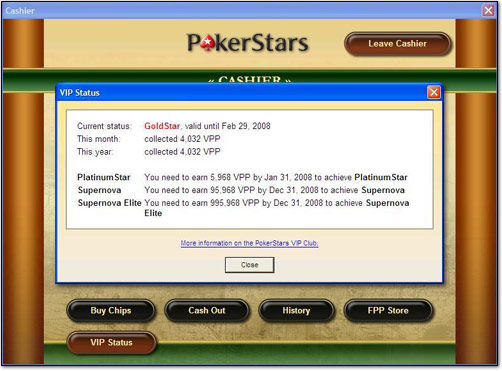 PokerStars VIP Table