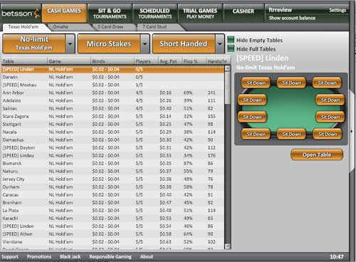 betsson poker voucher code