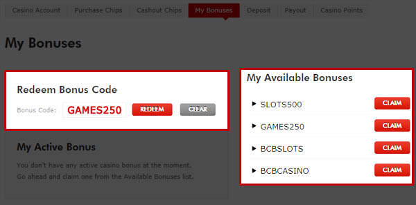Latest casino bonuses codes casino niagra canada