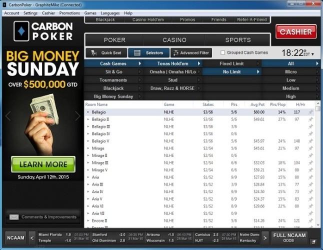 Carbon Poker Lobby