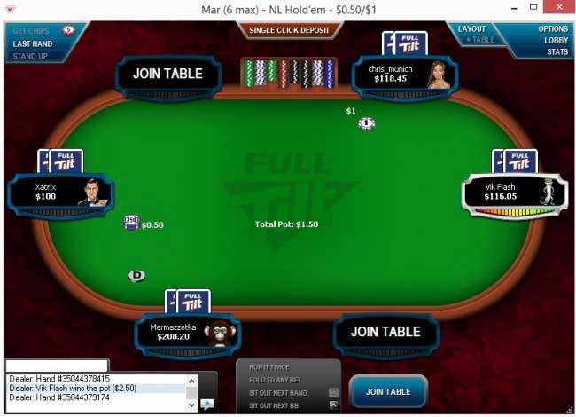 Cash Table Racetrack