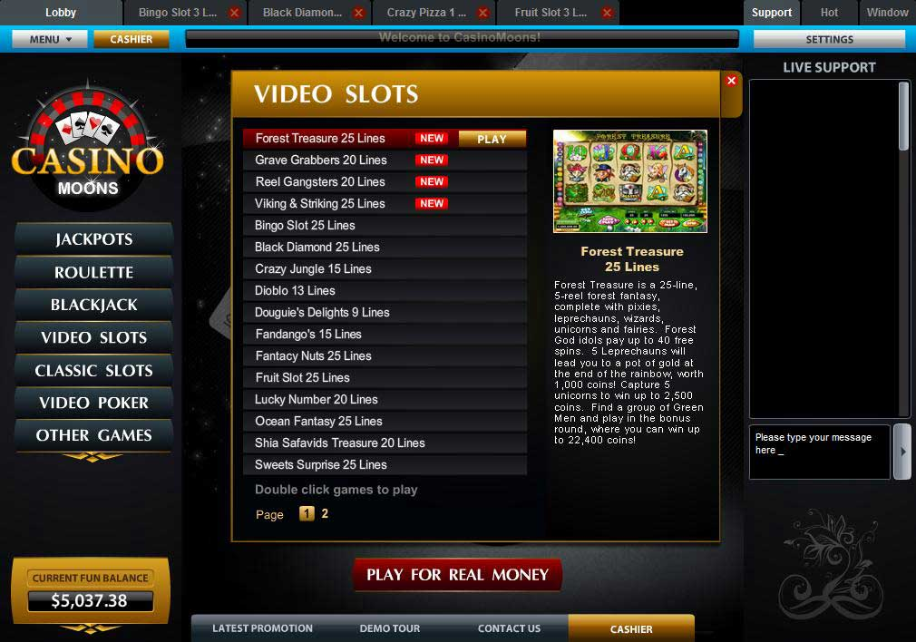 no deposit bonus codes for casino moons