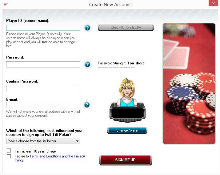full tilt poker login