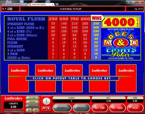 casino ladbrokes video poker type