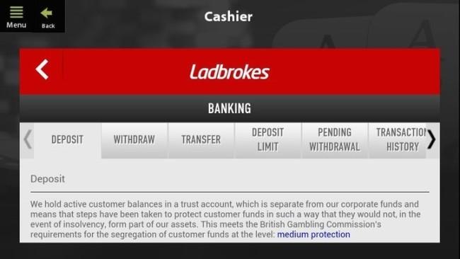 Mobile Cashier at Ladbrokes
