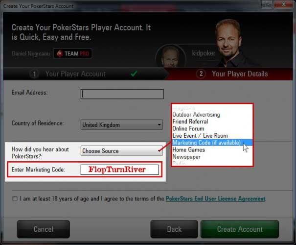 "How to Enter the PokerStars Marketing Code ""FlopTurnRiver"""