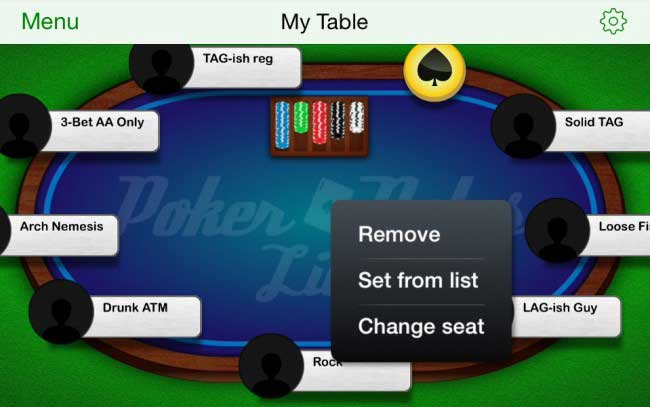 Poker Notes Live: Adding or Removing Players