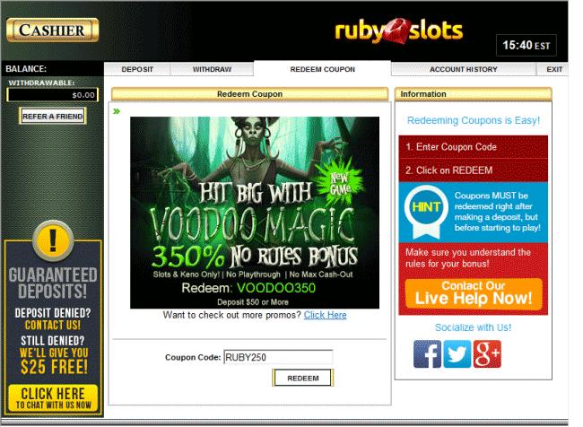 video slots voucher code