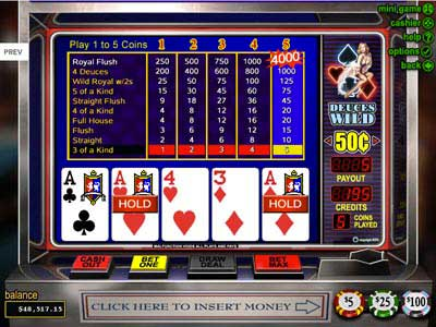 free slot poker games online