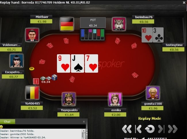 Hand History Replayer at Ladbrokes Poker