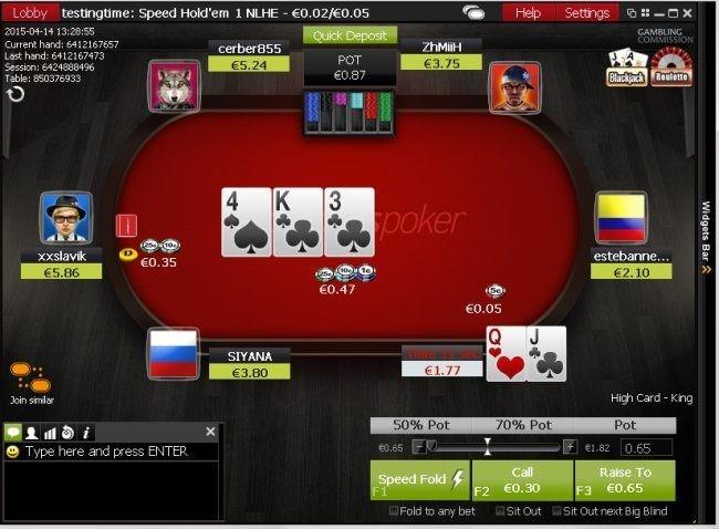 Speed Poker Game Action at Ladbrokes