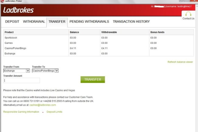 How to Transfer Funds Between Ladbrokes Wallets