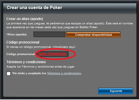 Betfair Poker Bonus Code: Welcome50, Welcome250, Welcome500, Welcome1000, Welcome2500
