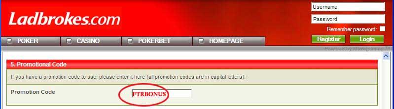 Ladbrokes Bonus Code: FTRBONUS