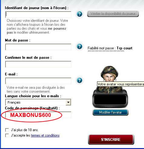 Code de Parrainage Full Tilt Poker: MAXBONUS600