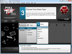 Full Tilt Poker Lobby - Basic