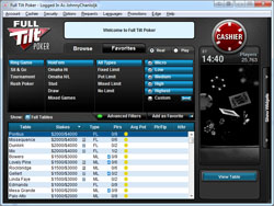 Full Tilt Poker Lobby - Mini