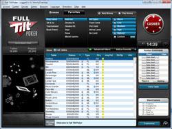 Full Tilt Poker Lobby - Standard