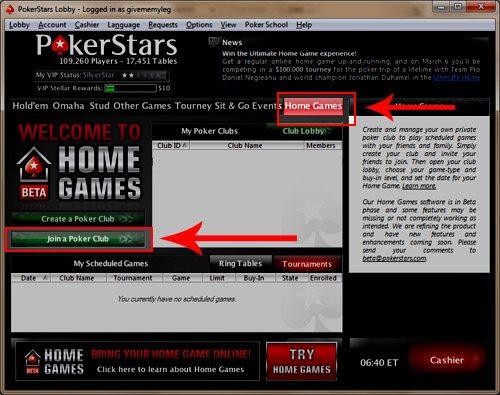 pokerstars home games ipad
