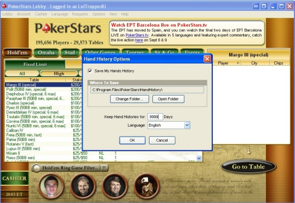Pokerstars auto close tournament lobby