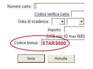Codice Bonus PokerStars: STARS600