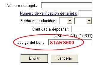 Codigo Bono PokerStars: STARS600