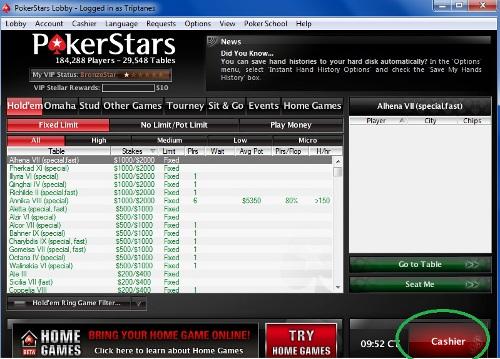 Pokerstars visa cash out