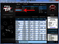 Full Tilt Poker Rush Poker: Lobby