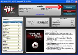 Full Tilt Poker Rush Poker: Joining