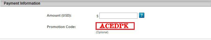 Aced Promotion Code: ACEDPK