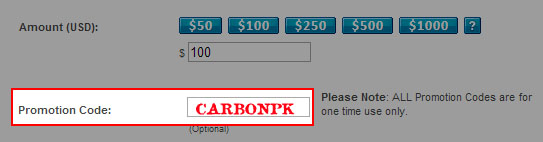 Carbon Poker Coupon Code: CARBONPK