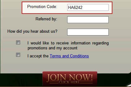 Havana Casino Promotion Code: HA6242