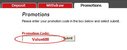 VC Poker Bonus Code: Value600