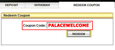 WinPalace Casino Coupon Code: PALACEWELCOME