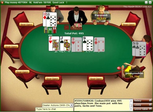 Flop river turn poker
