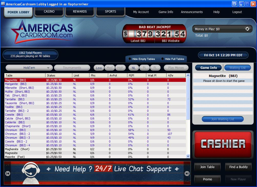 Poker forum freeroll americas cardroom