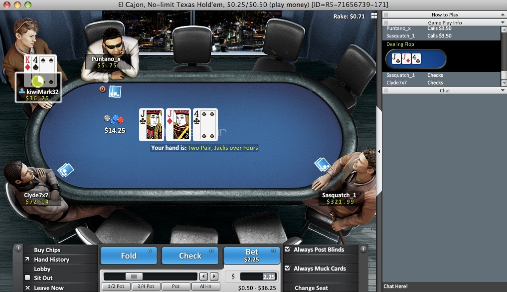 Win rate hands poker