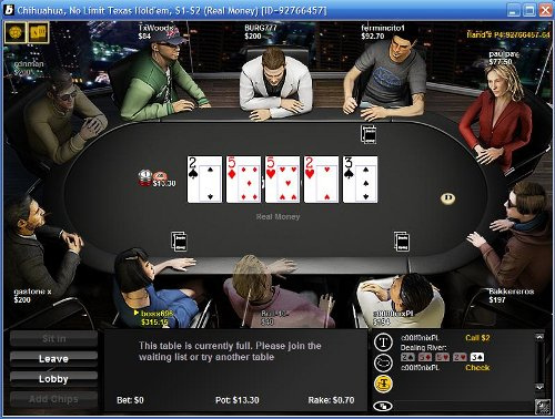 bwin Poker Table