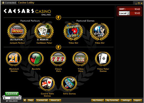 Caesars Casino Online Lobby
