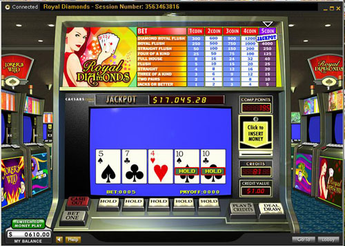 online casino video poker spinderella