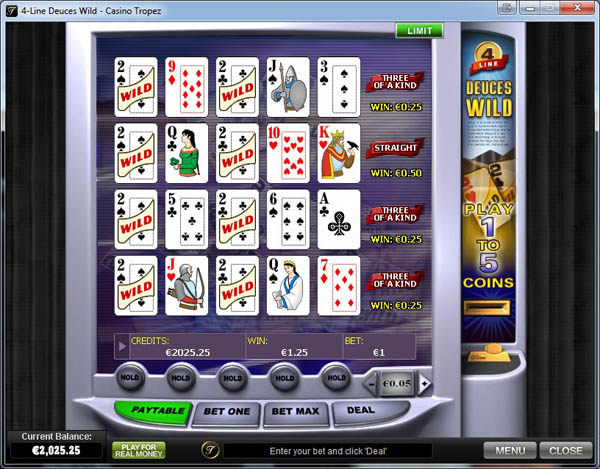 Casino Tropez Video Poker