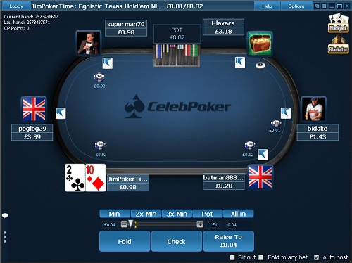 CelebPoker Table