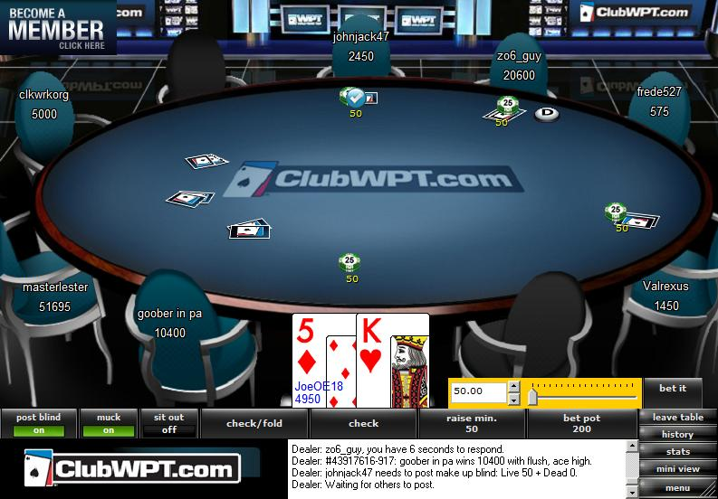 Club WPT Table