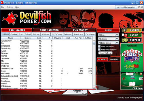 Devilfish Poker Lobby