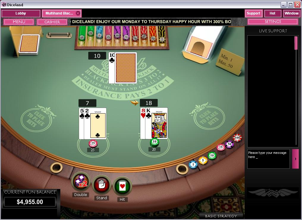 Streaming 21 blackjack