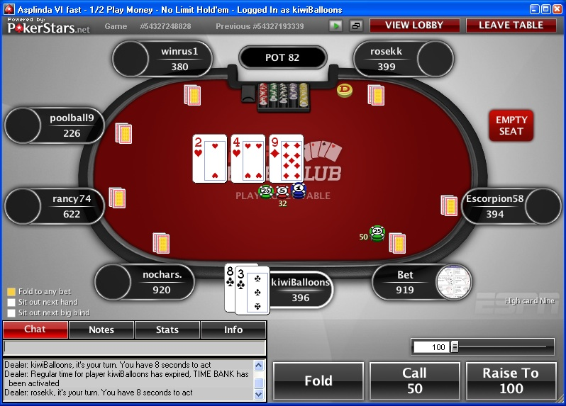 Pokerstars cash out funktion