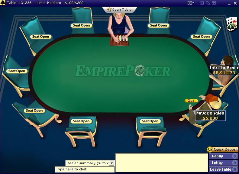 EmpirePoker Table