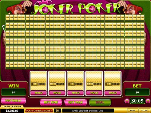 EuroGrand Casino Video Poker