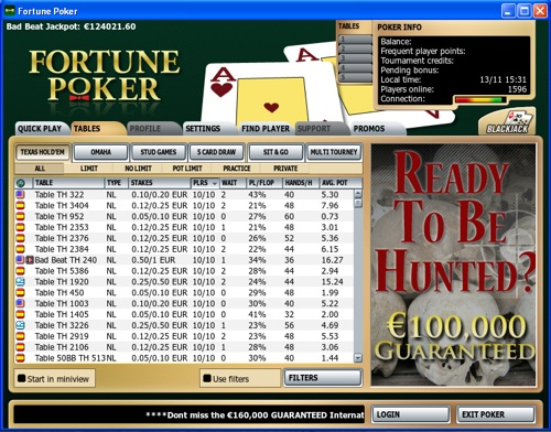 Fortune Poker Lobby