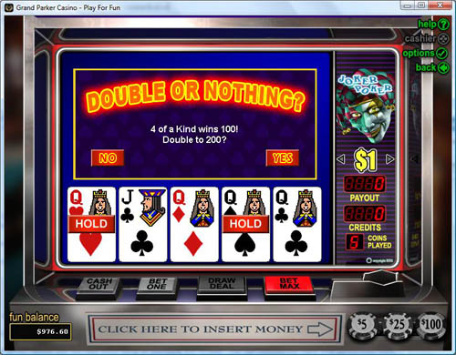 Grand Parker Casino Video Poker